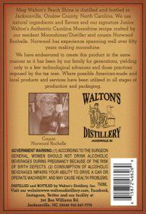 Mag Walton's Peach Shine Back Label