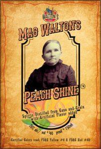 Mag Walton's Peach Shine Front Label