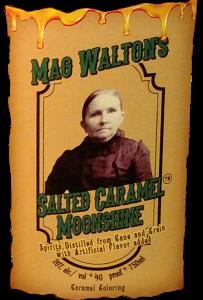 Label for Mag Waltons Salted Caramel Moonshine