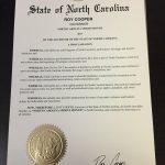 North Carolina's Spirits Month Procoamation