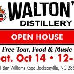 Open House at Waltons Distillery Saturday October 14th