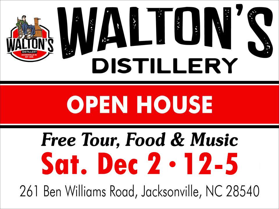 Open House at Waltons Distillery Sat Dec 2